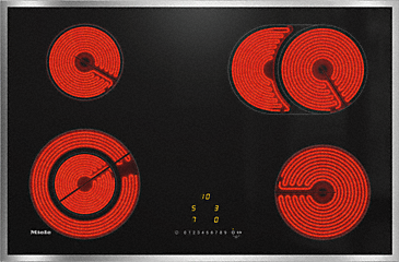 KM 6522 FR - Electric hob with onset controls with 1 extended zone and 1 Vario zone at an attractive entry level price.--NO_COLOR
