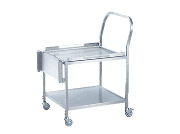 MC/2 - Transfer trolley height adjustable, for loading & unloading washer-&disinfectors.--stainless steel exterior