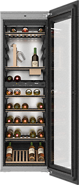 KWT 6722 iGS - Built-in wine conditioning unit with FlexiFrame, SommelierSet and Push2open for demanding wine connoisseurs.--Obsidian black