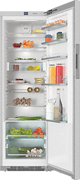 KS 28423 D ed/cs - Freestanding refrigerator With DailyFresh and FlexiLight for added freshness and optimum lighting.--Stainless steel/CleanSteel