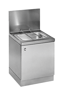 APWD 075 - Slops basin with rim flushing.--stainless steel exterior