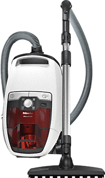 Blizzard CX1 Jubilee PowerLine - SKRF3 - Bagless cylinder vacuum cleaners with protective parquet floorhead for first-class care of delicate hard floors.--Lotosweiß-Rot