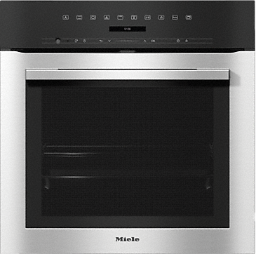 H 7164 BP - Oven attractive stainless steel design with networking and pyrolytic cleaning. --Stainless steel/CleanSteel