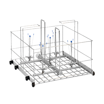 APLW 003 - Mobile unit for optimum loading of large-volume laboratory glassware, up to 20 l.--stainless steel exterior