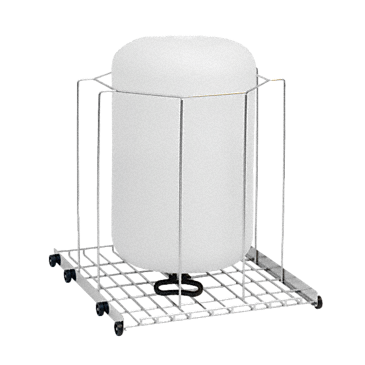 APLW 004 - Mobile unit for optimum loading of large-volume laboratory glassware, up to 50 l.--stainless steel exterior