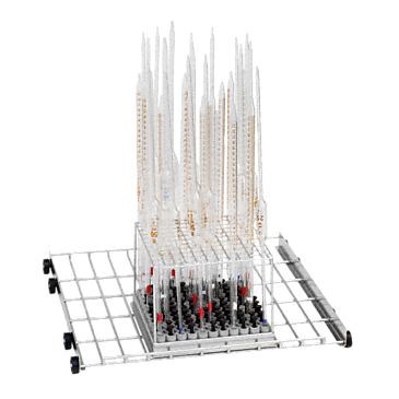 APLW 006 - Mobile unit for optimum loading of up to 121 pipettes.--stainless steel exterior