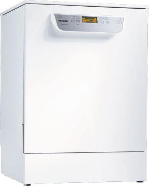 PG 8059 [MK HYGIENE 1N AC 230V 50Hz 30-32A 5,9kW] - Freestanding fresh water dishwasher With baskets, for all locations with high hygiene requirements.--white casing