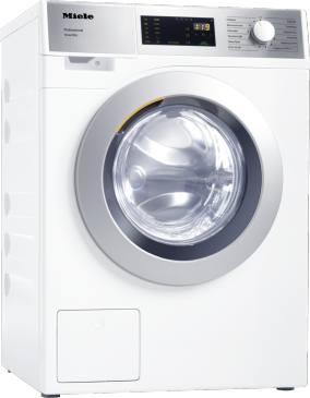 PWM 300 SmartBiz [EL DP] - Washing machine, electrically heated commercial quality with a cycle time of 79 min., easy installation.--Lotus white