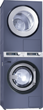 PWT 6089 Vario XL [EL LP 3N AC 400V 50Hz] - Washer-dryer stack for washing and drying in the smallest space, model with drain pump--Octoblue