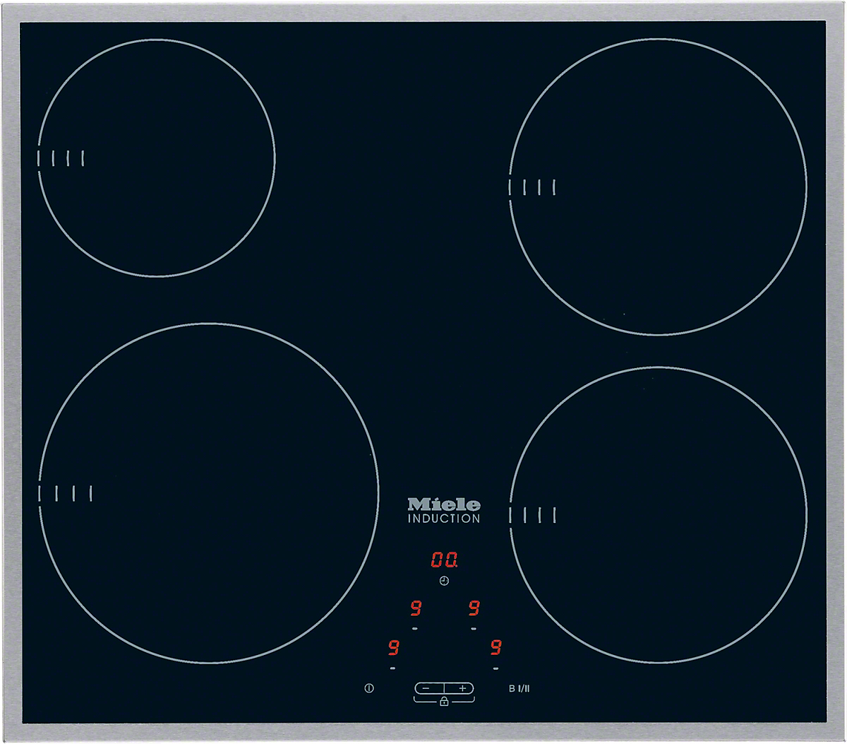KM 6115   Induction Hob With Onset Controls With 4 Cooking Zones For  Maximum Convenience At