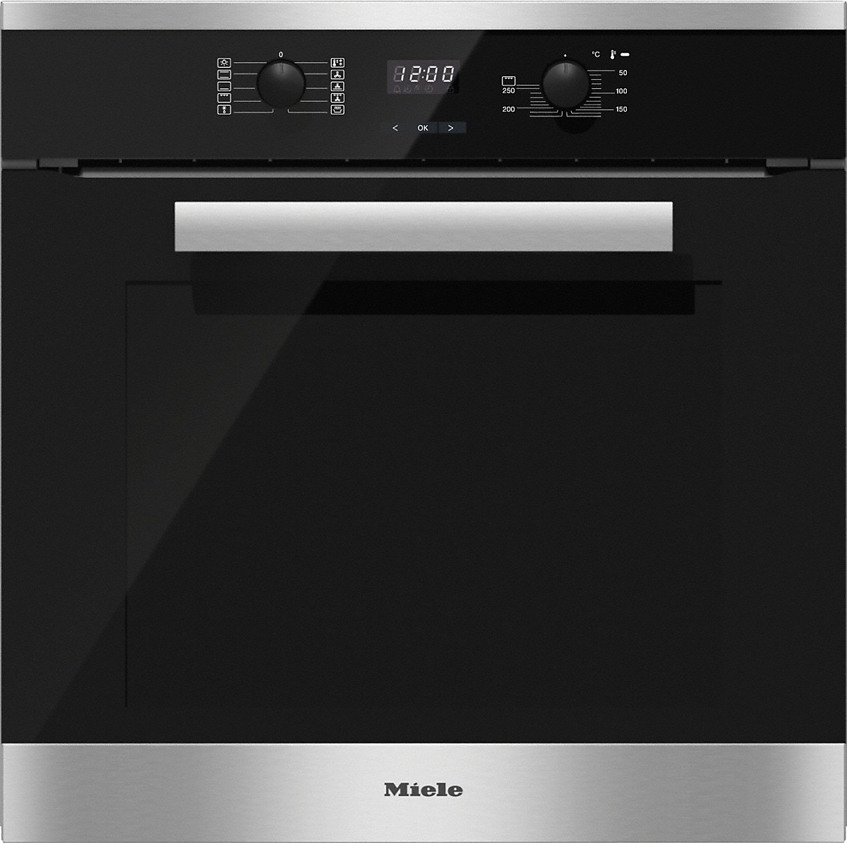 H 2661-1 B - Oven with convenience functions and XL oven compartment.-
